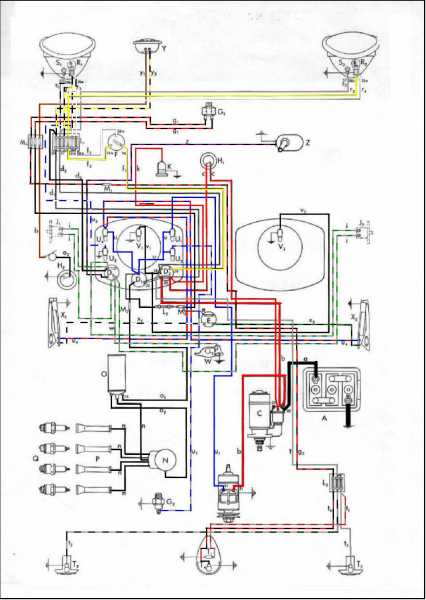 BrezelSchaltplan1950  Vw Bug Wiring Diagram on